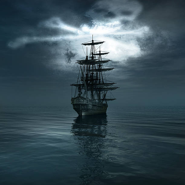 old pirate ship - pirates stock photos and pictures