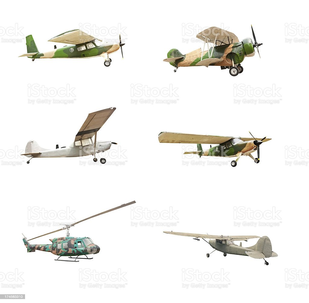 Old plane isolated stock photo