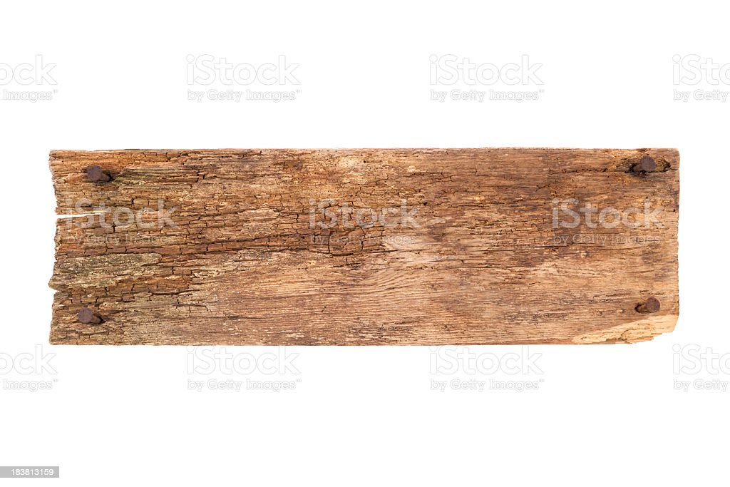 Old Plank and nails stock photo