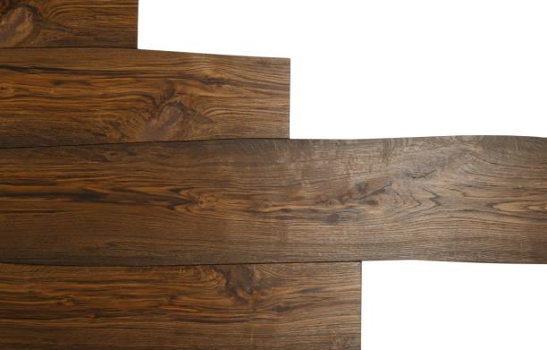 diele altholz isoliert auf weißem hintergrund - treibholz wandkunst stock-fotos und bilder