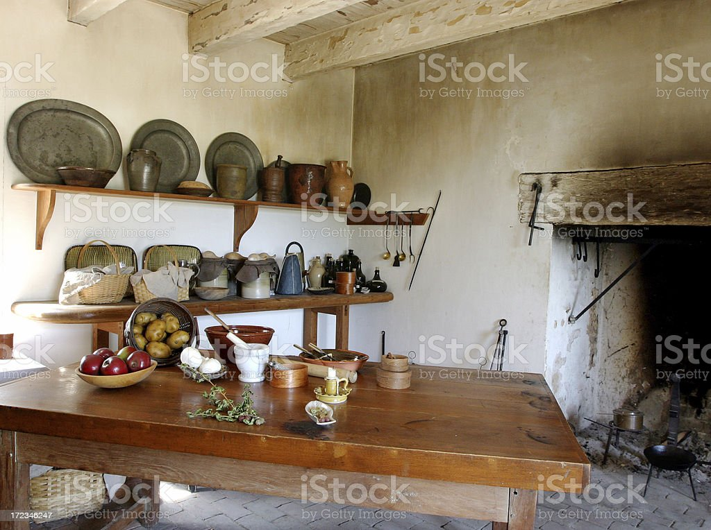 Old Plantation Kitchen royalty-free stock photo