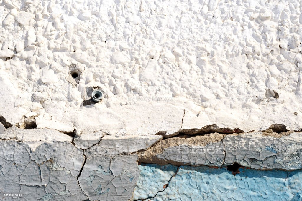 Old Plaster Wall and Peeling Paint in Blue - Royalty-free Abstract Stock Photo