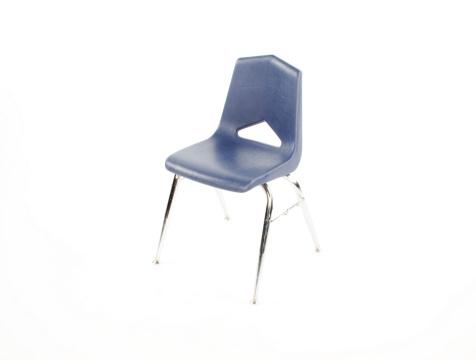 Old plastic school chair
