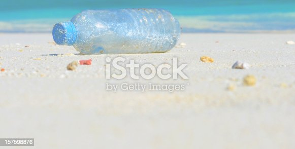 istock old plastic water bottle on a beach 157598876