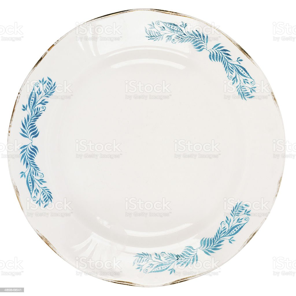 Old plate stock photo