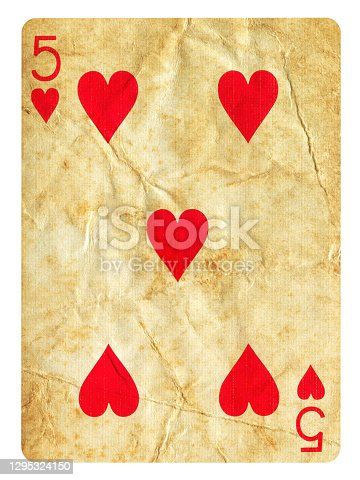 Old Playing card Isolated (clipping path included)