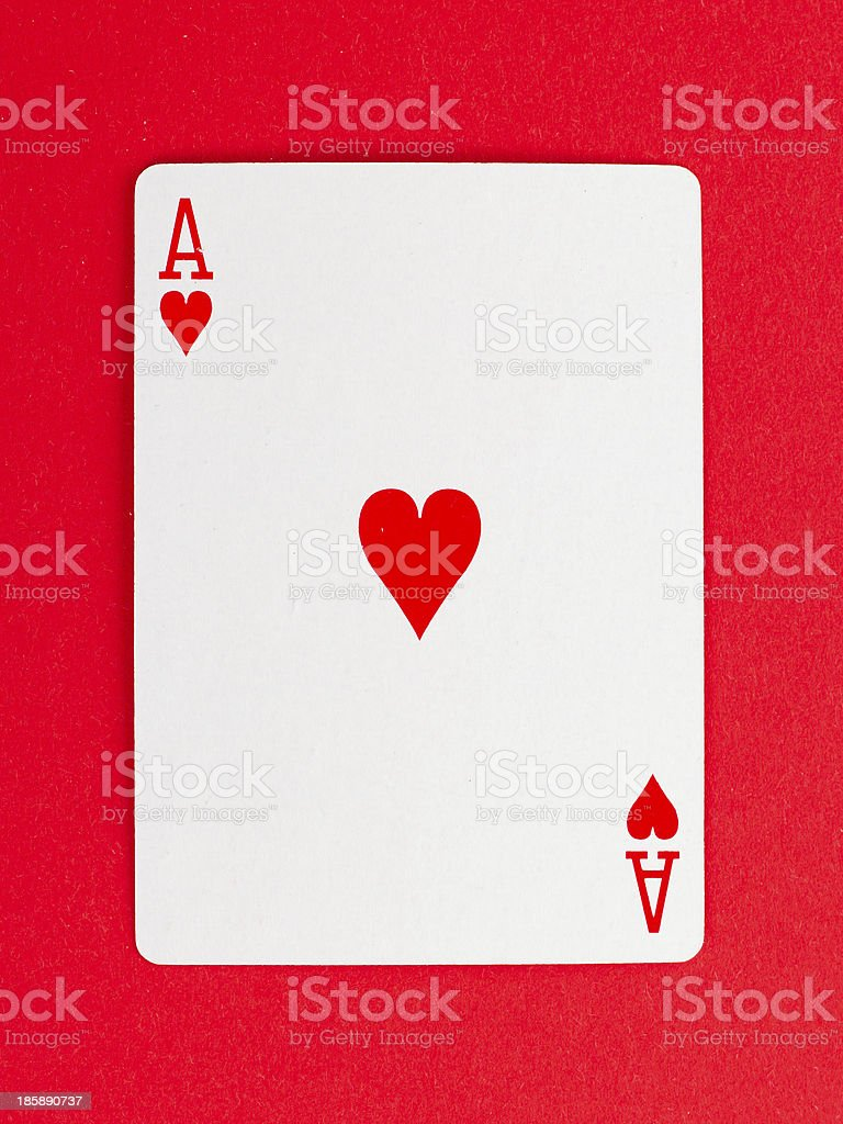Old playing card (ace) stock photo