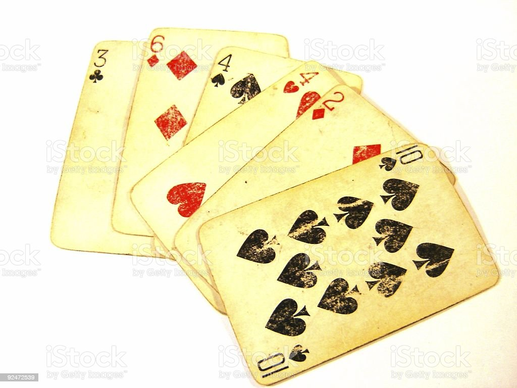 Old Playing Cards - Light royalty-free stock photo