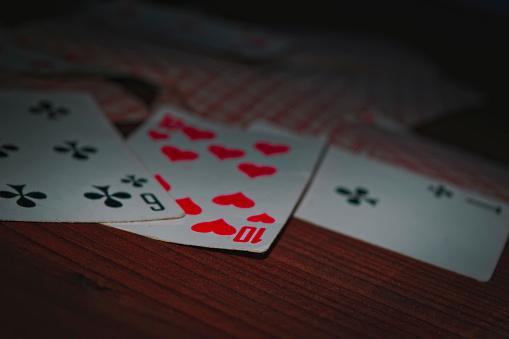 Oude Speelkaarten Stockfoto en meer beelden van Aas - Kaarten