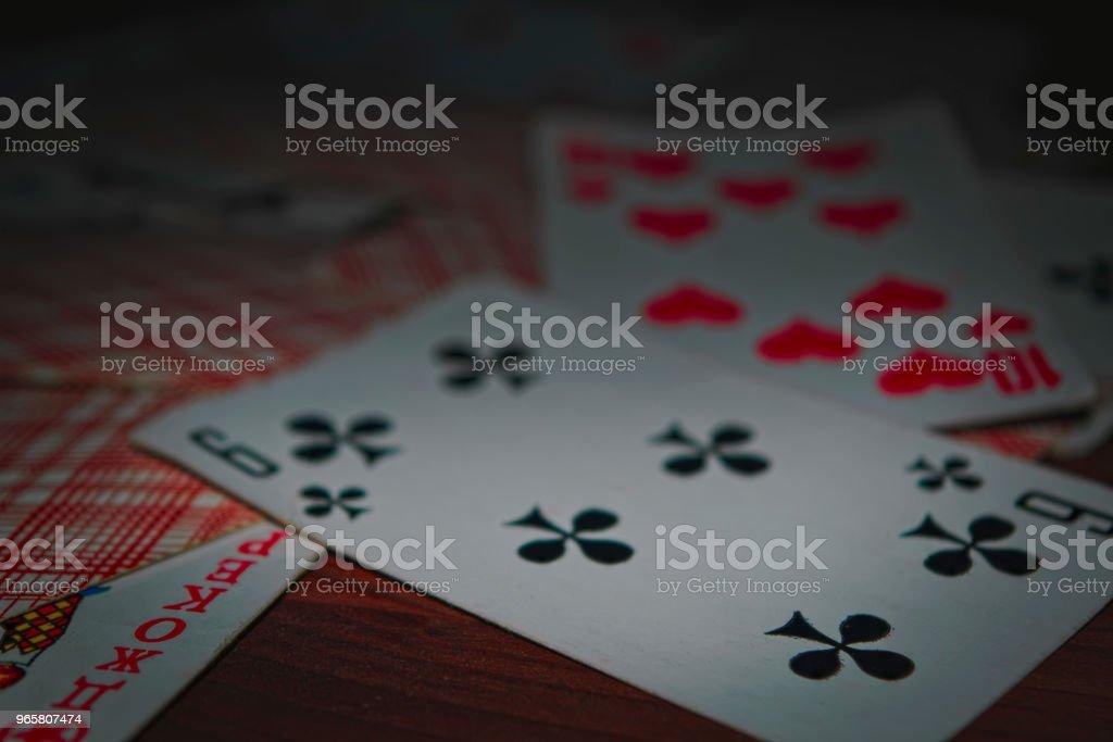 Oude speelkaarten - Royalty-free Aas - Kaarten Stockfoto
