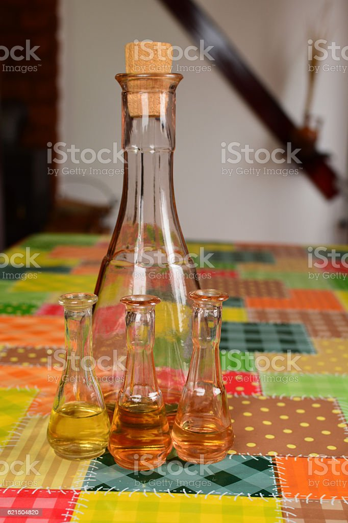 Old plum brandy on the table Lizenzfreies stock-foto