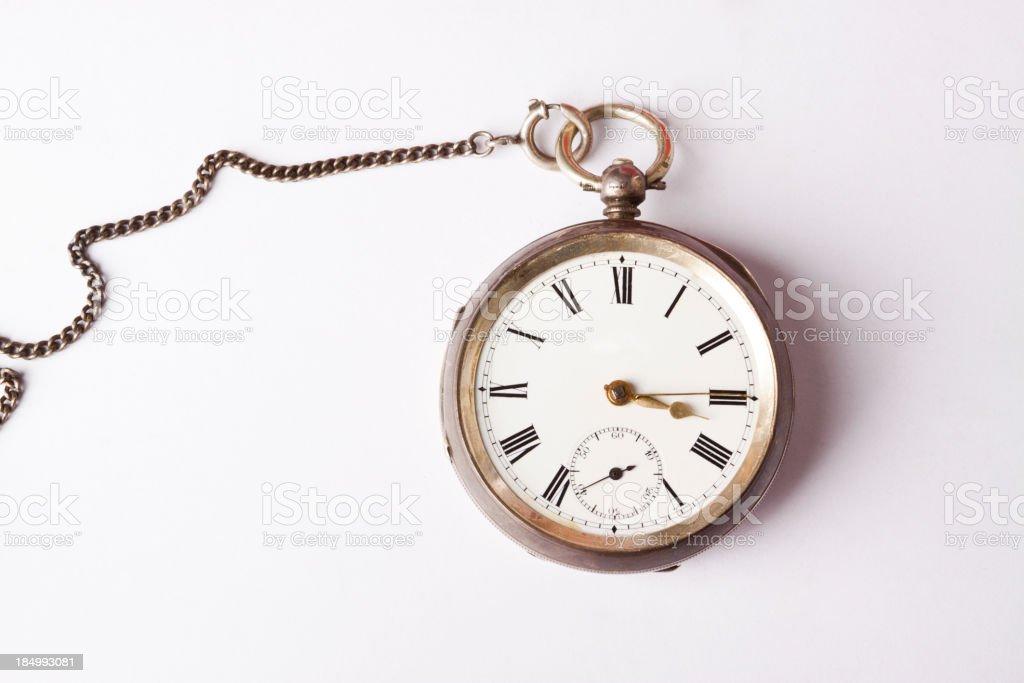 Old Pocket Clock stock photo