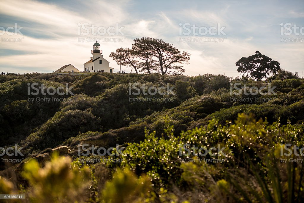 Old Point Loma Lighthouse, San Diego, USA stock photo