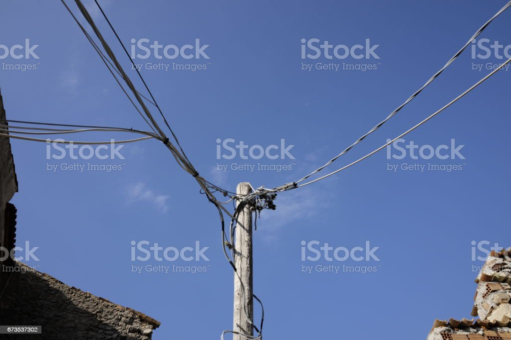 Old pole of light royalty-free stock photo