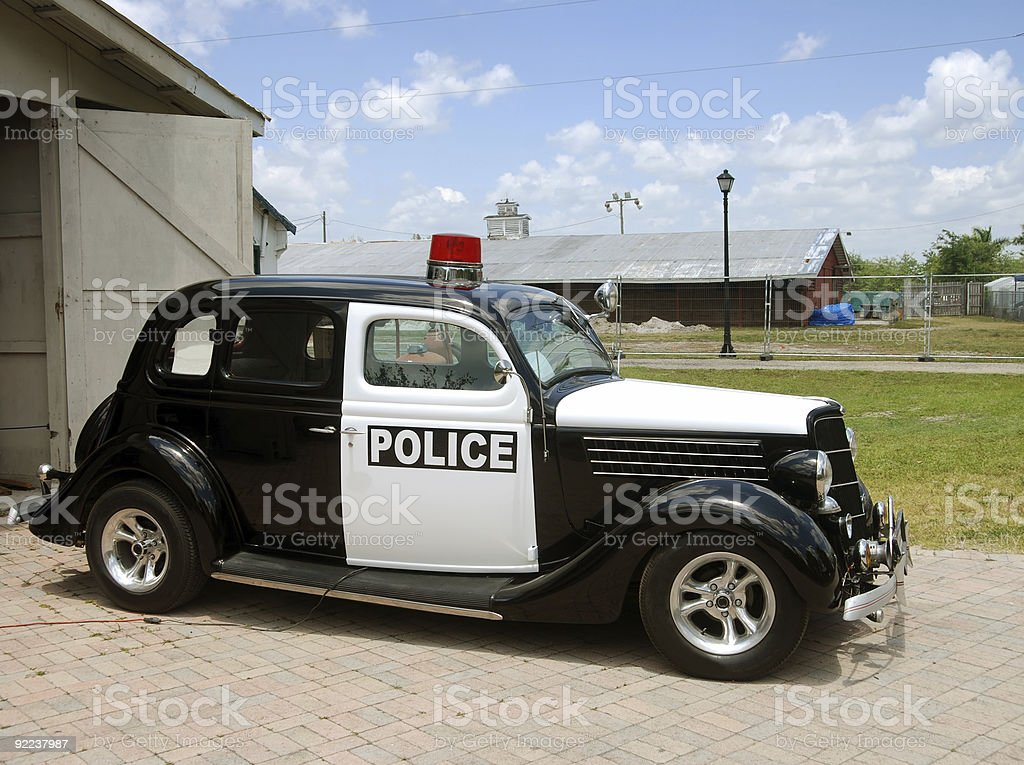 Old police car royalty-free stock photo