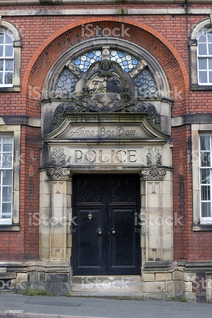 Old Police Station entrance stock photo