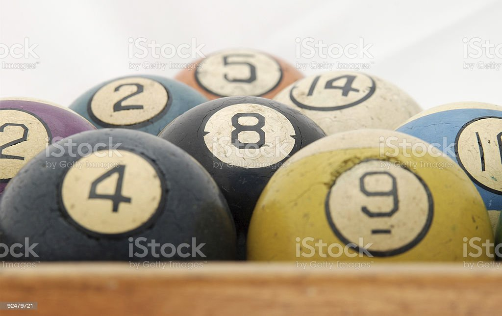 Old Pool Balls royalty-free stock photo