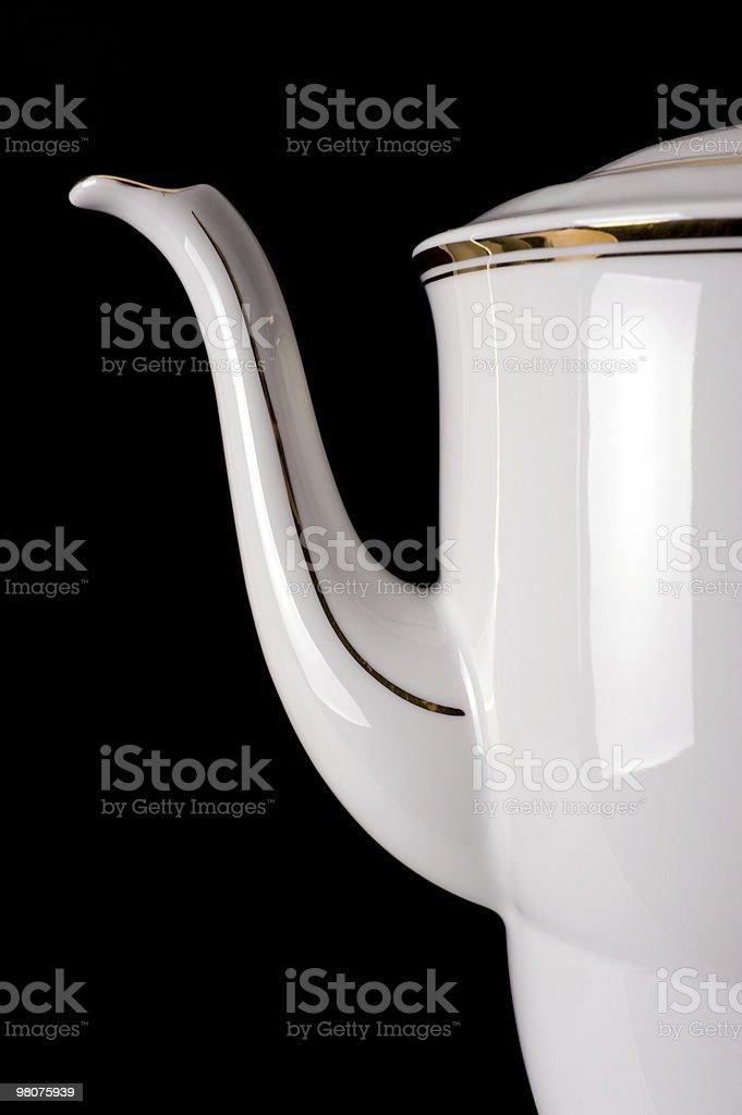 Vecchia porcellana Teiera foto stock royalty-free
