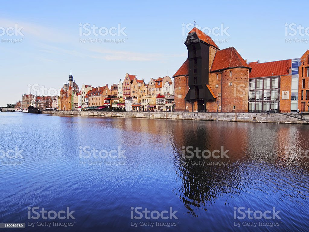 Old Port Crane in Gdansk, Poland royalty-free stock photo