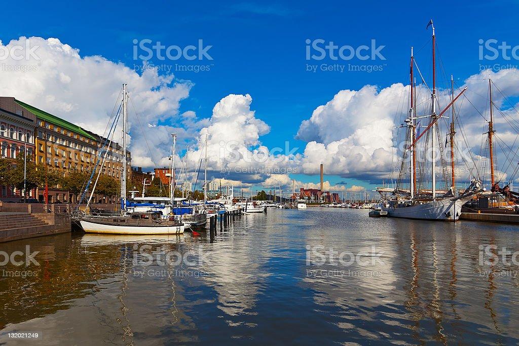 Old port in Helsinki, Finland royalty-free stock photo