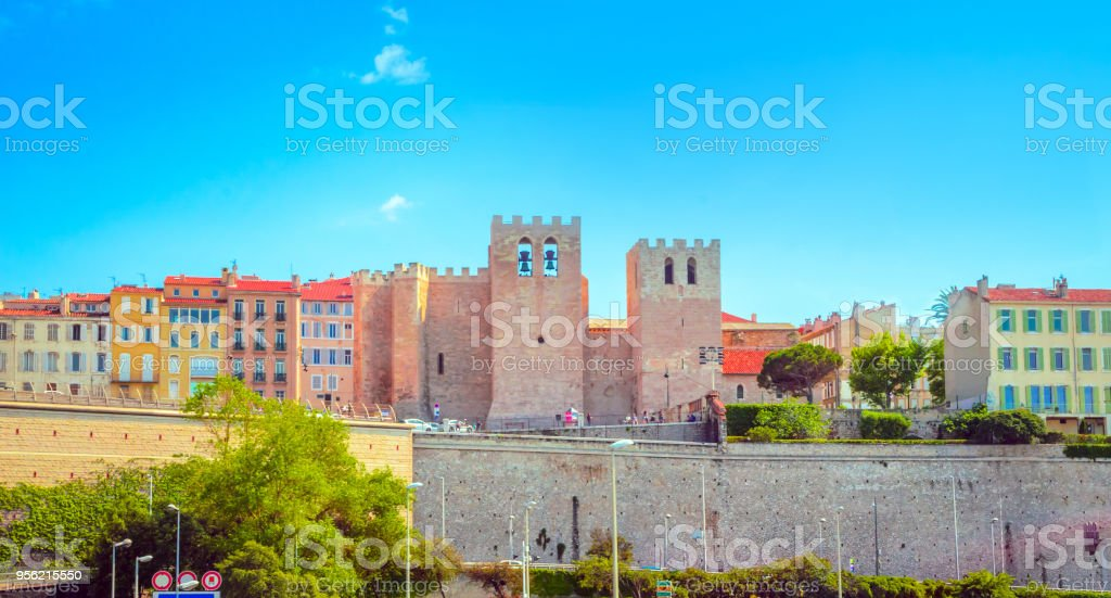Old port in Marseille, France stock photo