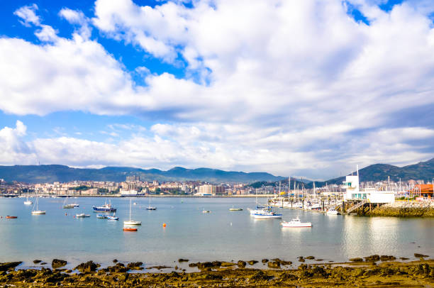 Antiguo puerto de Algorta, Getxo, Bilbao España. - foto de stock