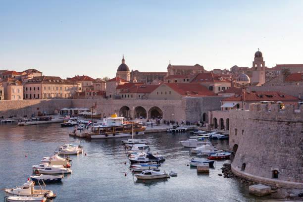 Old Port of Dubrovnik stock photo