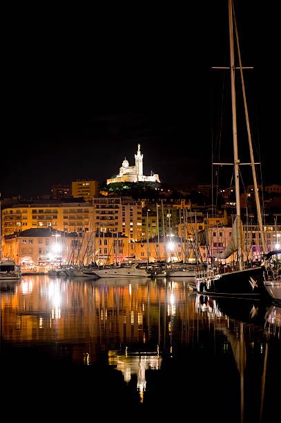 Old port of Marseille stock photo