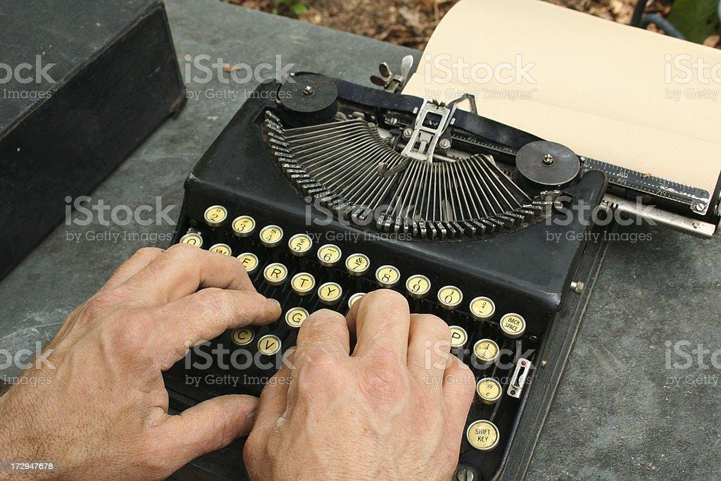 Old Portable Typewriter royalty-free stock photo