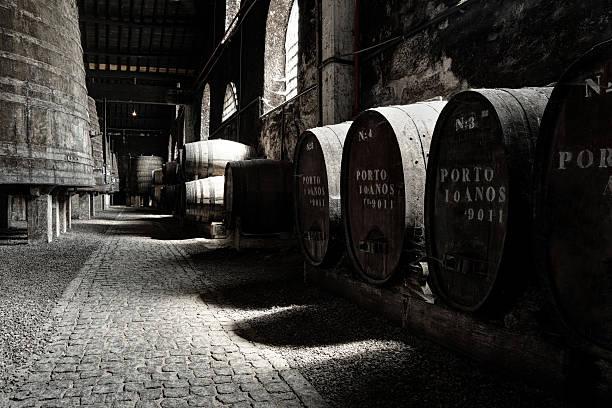 Old Porto wine cellar stock photo