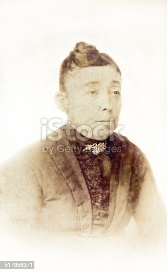 478384809 istock photo Old portrait of a lady 517958371