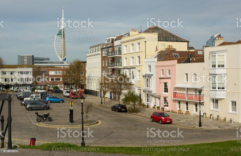Old Portsmouth, Hampshire, England stock photo