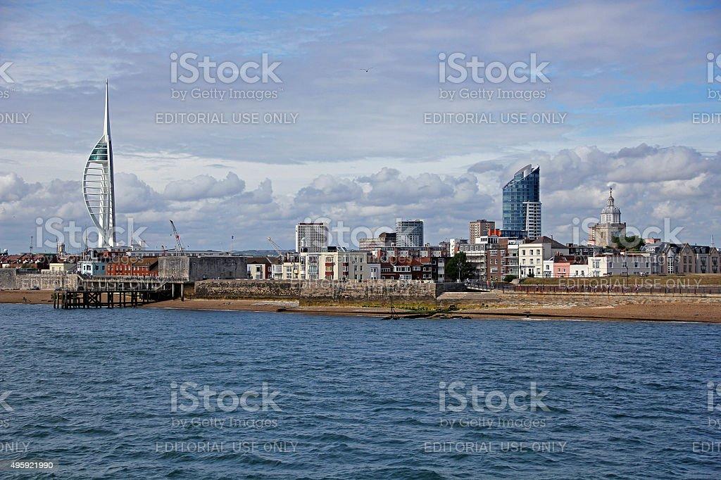 Old Portsmouth, UK stock photo