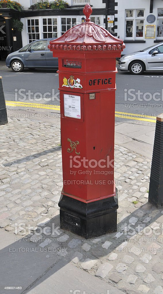 Old Post Box royalty-free stock photo