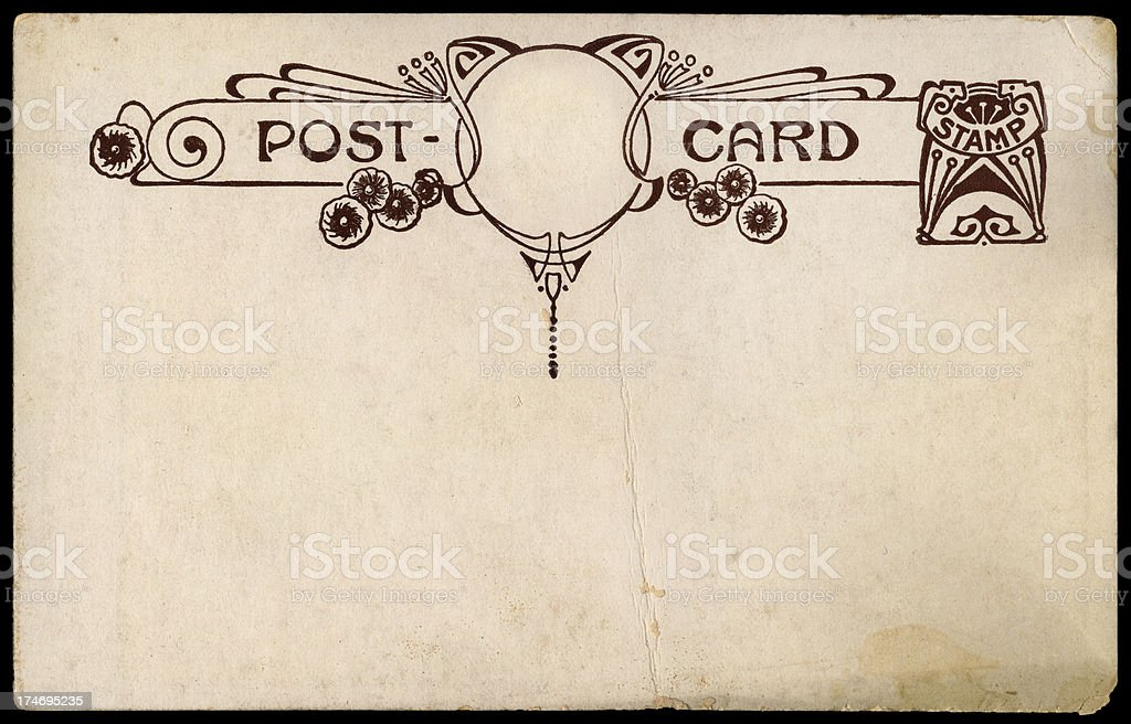 Old Post Card stock photo