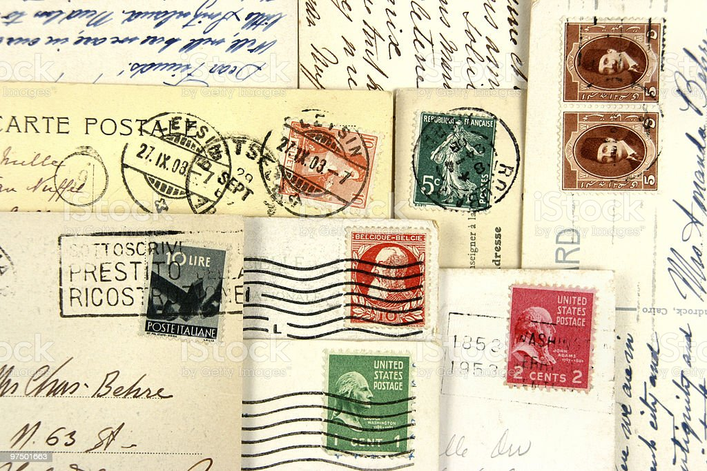 Old post cards royalty-free stock photo