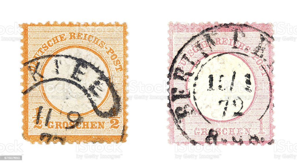 Old post stamps royalty-free stock photo