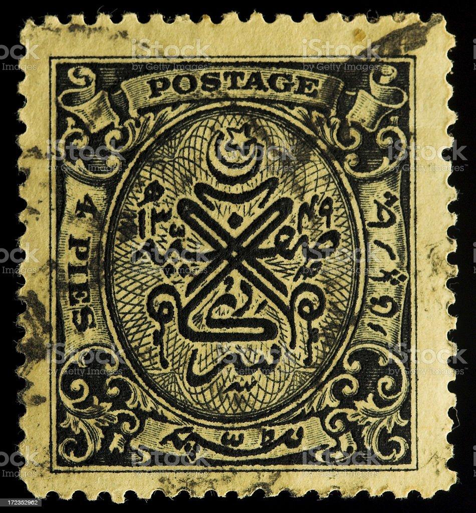 Old sello postal de la India foto de stock libre de derechos