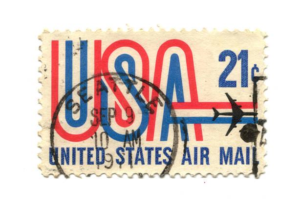 old Briefmarke von USA 21 cent – Foto