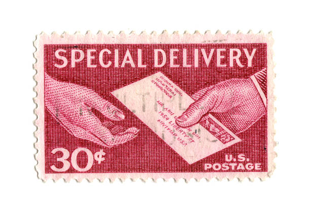 Old Briefmarke von USA und 30 cent – Foto
