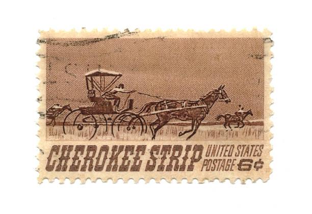 Old Briefmarke von USA sechs cent – Foto