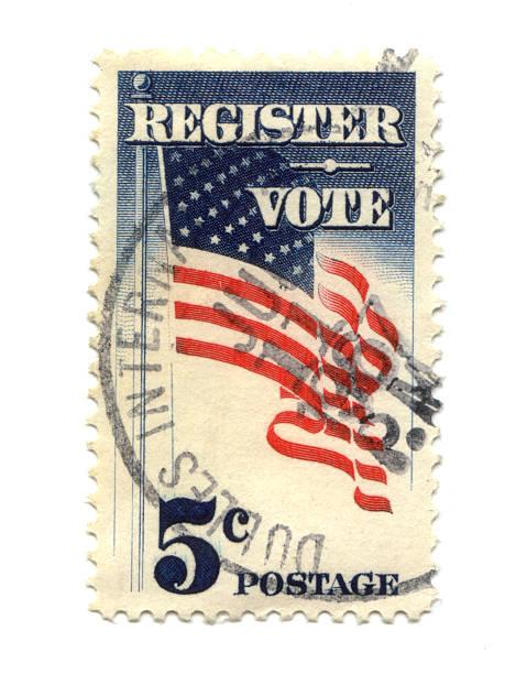 Old Briefmarke aus den USA 5 cent – Foto