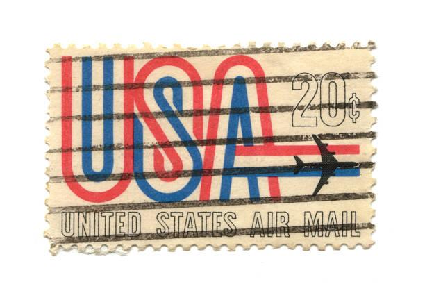 old Briefmarke aus den USA – Foto