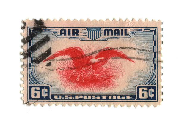 Old Briefmarke aus den USA sechs cent – Foto