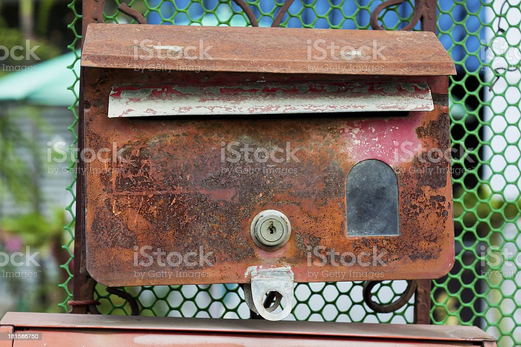 Old postbox royalty-free stock photo