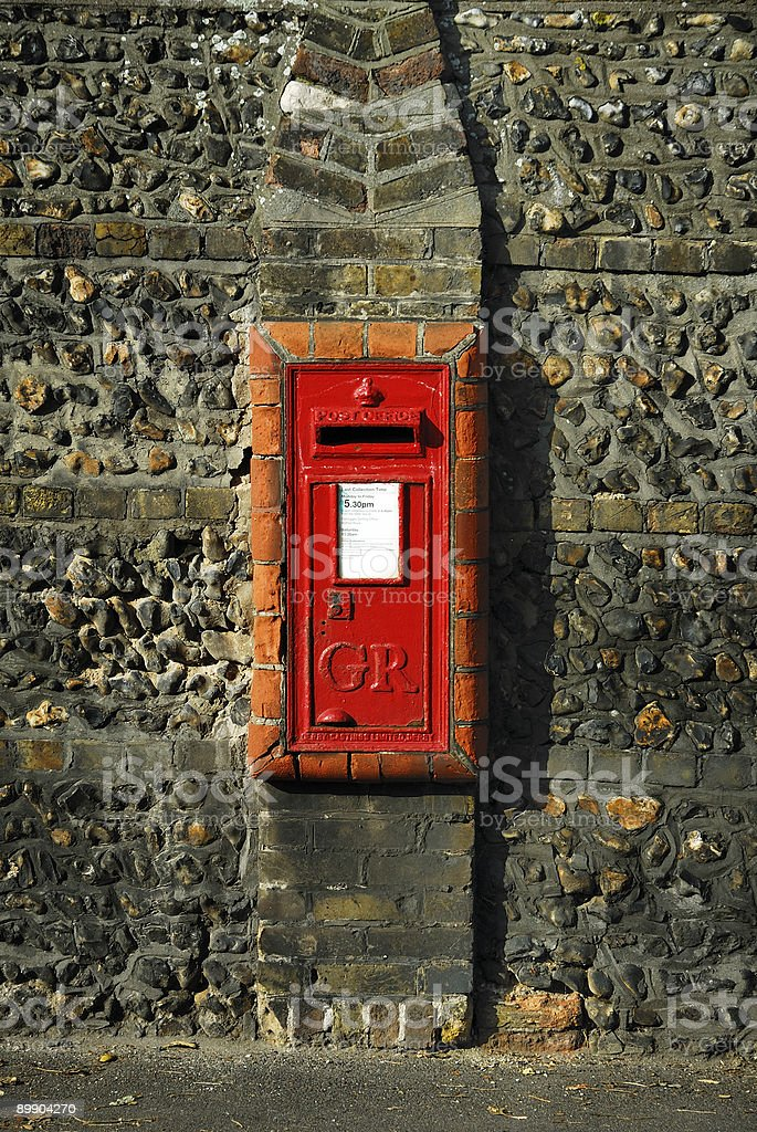 Old Postbox foto de stock royalty-free