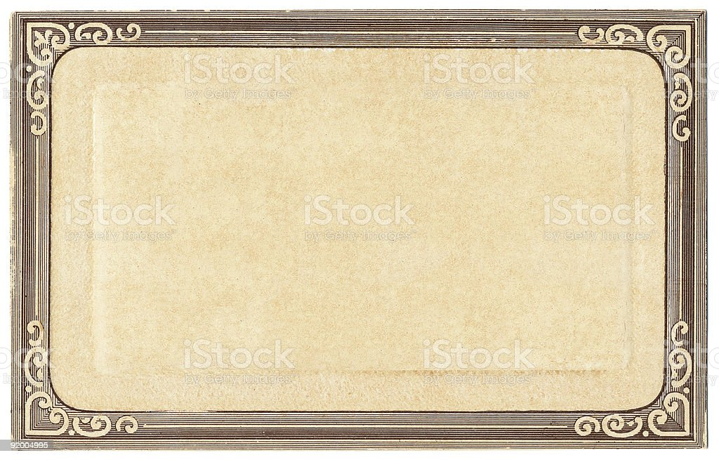 Old Postcard Frame royalty-free stock photo