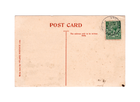 An old British postcard, postmarked September 1917, from the reign of King George V (1910-1936) and dating from World War One.