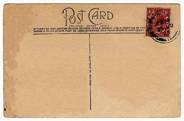 Old postcard: King George V (1925) stock photo