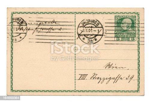 istock Old postcard 164669364